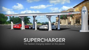 Tesla Supercharger Electric Car Charging Station