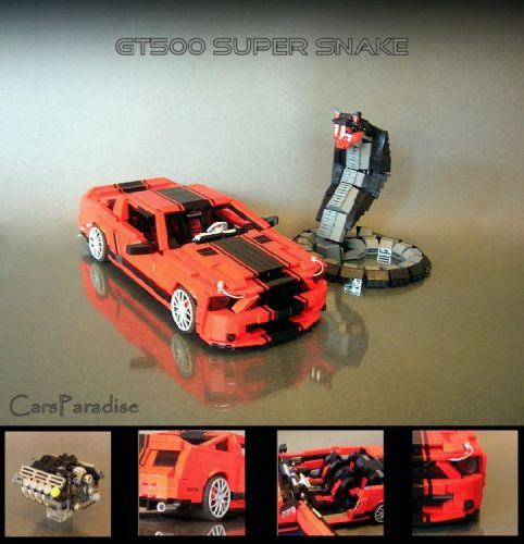 Lego cars Mustang Shleby Supersnake picture