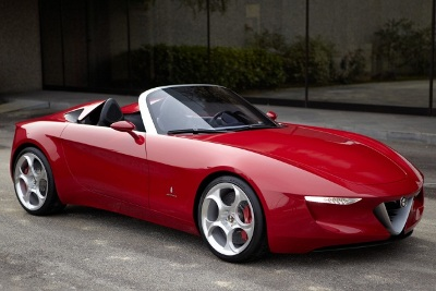 A concept of what the next Alfa Romeo Spider might look like, built by Pininfarina.