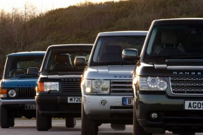 The four generations of the Range Rover