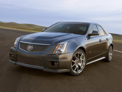 The 2010 Cadillac CTS-V comes with a 556-horsepower V8 engine sourced from the Chevy Corvette ZR1, so the low interest rate incentive might make it the cheapest supercar available.