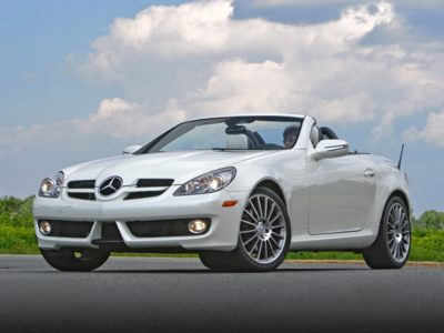The 2010 Mercedes-Benz SLK350 convertible is a great deal during July.