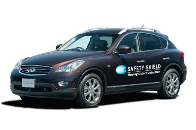 An Infiniti Equipped with Safety Shield technology.
