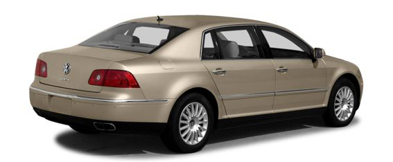 A rear view of the 2006 VW Phaeton.