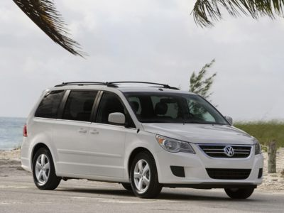 The 2910 Volkswagen Routan can be bought with no interest for 6 years during August.