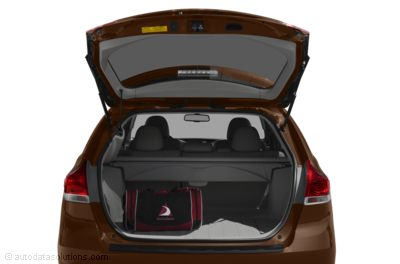 The 2011 Toyota Venza has 70 cubic feet of cargo room, nearl 20 cubic feet more than the Accord Crosstour.